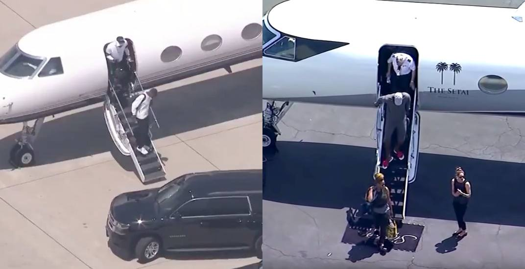 LA went full helicopter paparazzi for LeBron just like Toronto did for Kawhi (VIDEO)