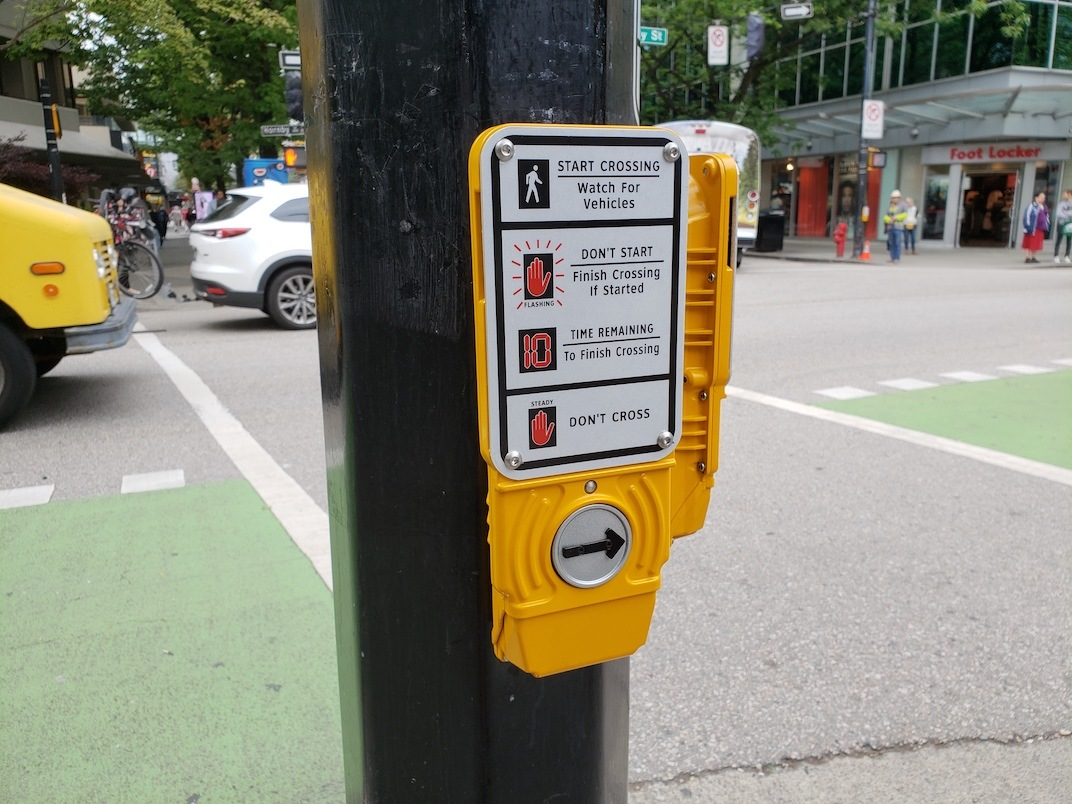 Vancouver pedestrian signal crosswalk