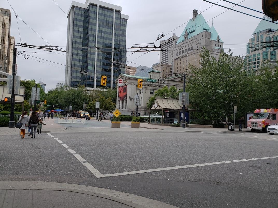 Robson Street Hornby Street Vancouver