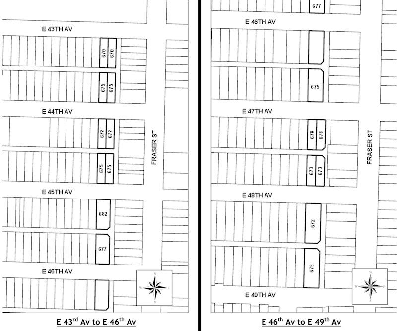 South Fraser Street Collective Parking Project Vancouver
