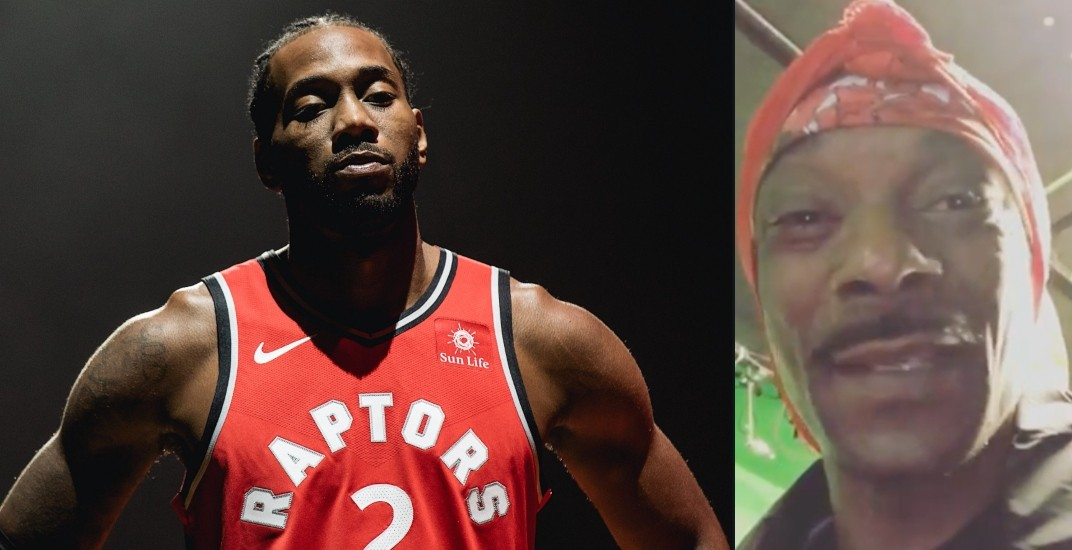 first rate f15ba f96d9 Snoop Dogg serenades Kawhi Leonard in attempt to lure him to ...