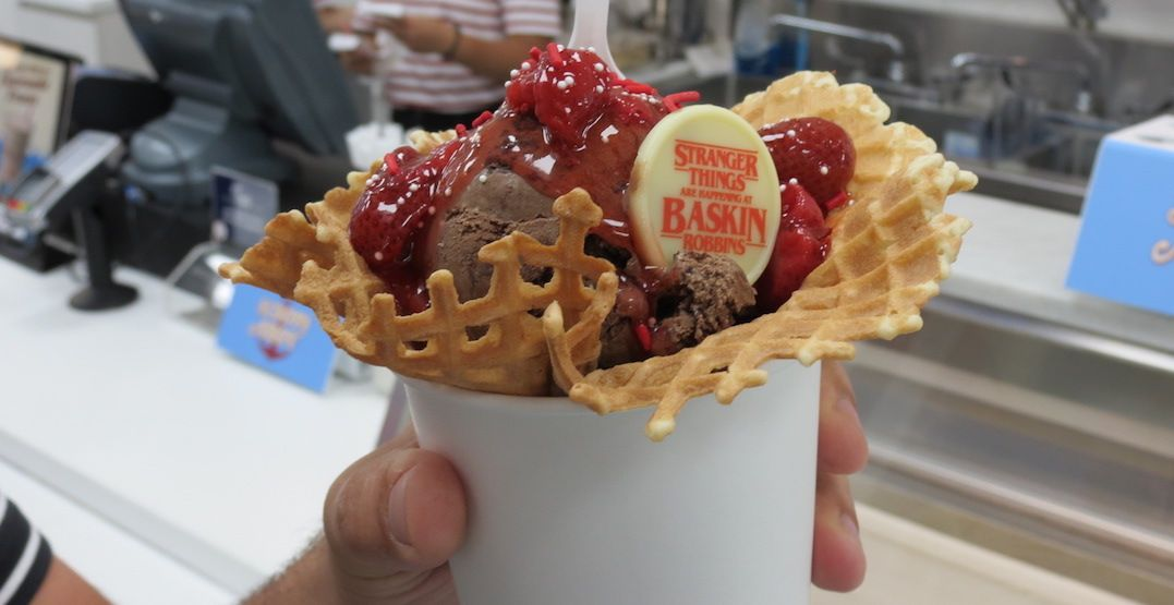 A Stranger Things-themed ice cream parlour has taken over this Baskin-Robbins