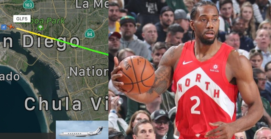 It looks like Raptors' Kawhi Leonard has flown back to Southern California
