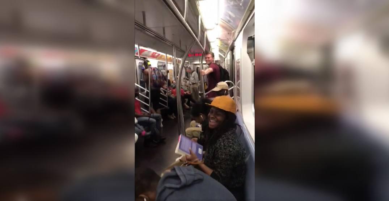 New York City subway bursts into epic Backstreet Boys singalong
