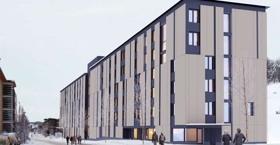 New student housing buildings being built at UBC Okanagan