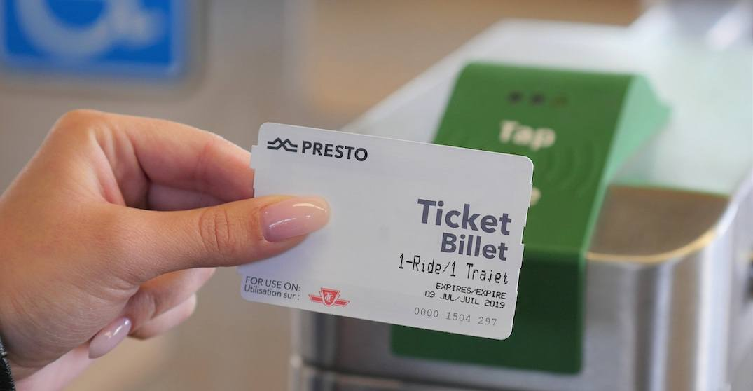 Limited-use, disposable PRESTO tickets now available at all TTC subway stations