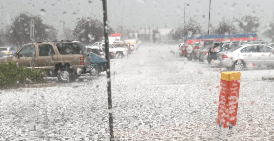 Calgary was hit by a huge hailstorm last night (VIDEOS)