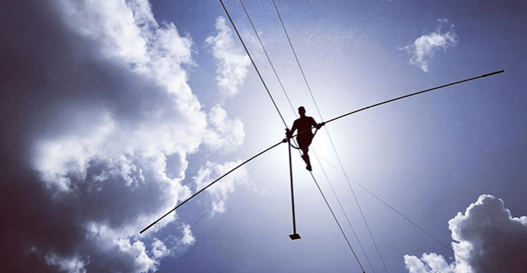 Daredevil to attempt world record tightrope walk at Stampede tonight