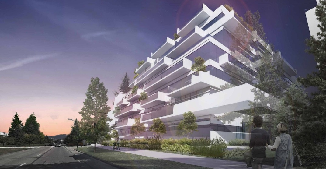 Volcanic rock-inspired condo project proposed for Cambie Corridor