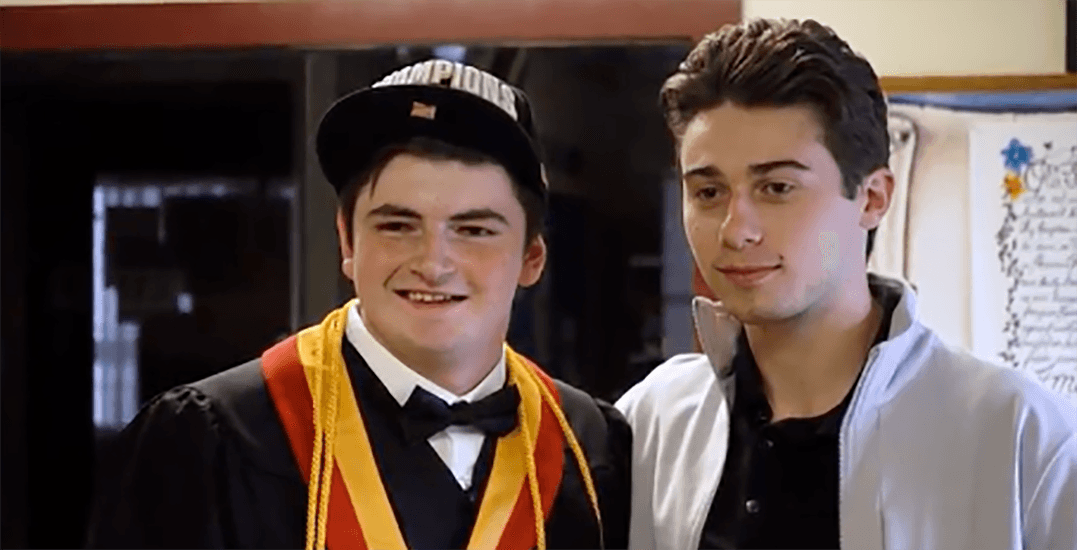 Quinn Hughes surprises Canucks fan with autism at high school graduation (VIDEO)
