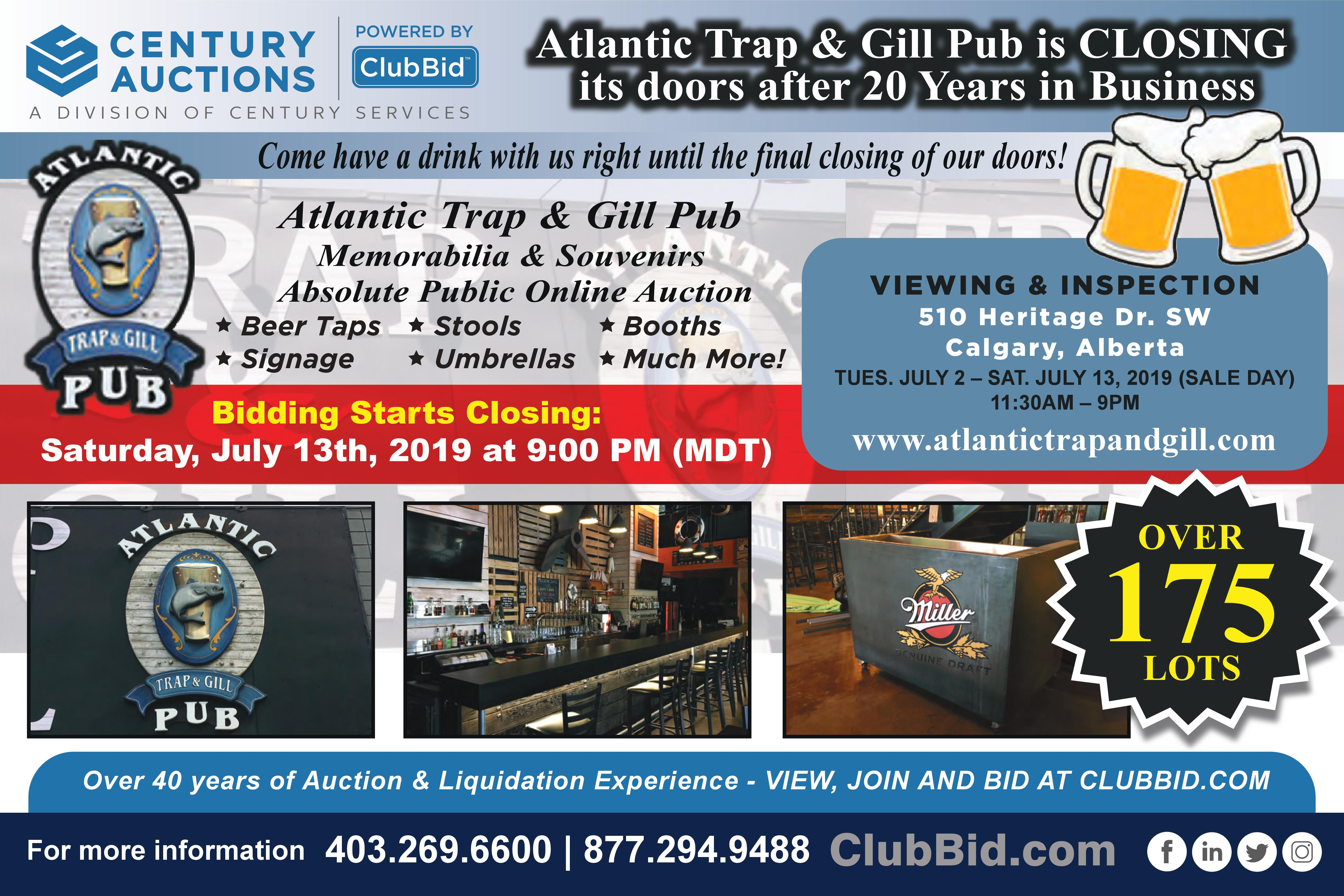 Atlantic Trap and Gill placard