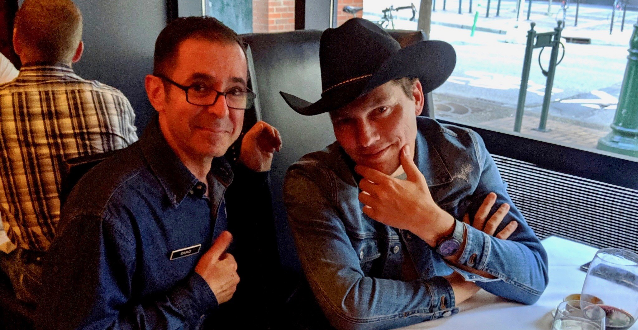 DJ Tiësto was just spotted at Hy's Steakhouse in Calgary (PHOTO)