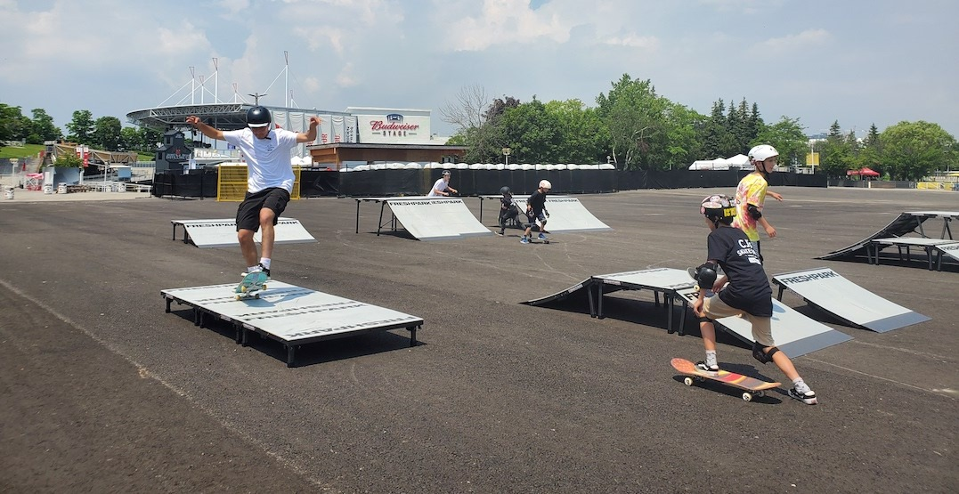 Ontario Place just got a brand-new skate park and basketball courts