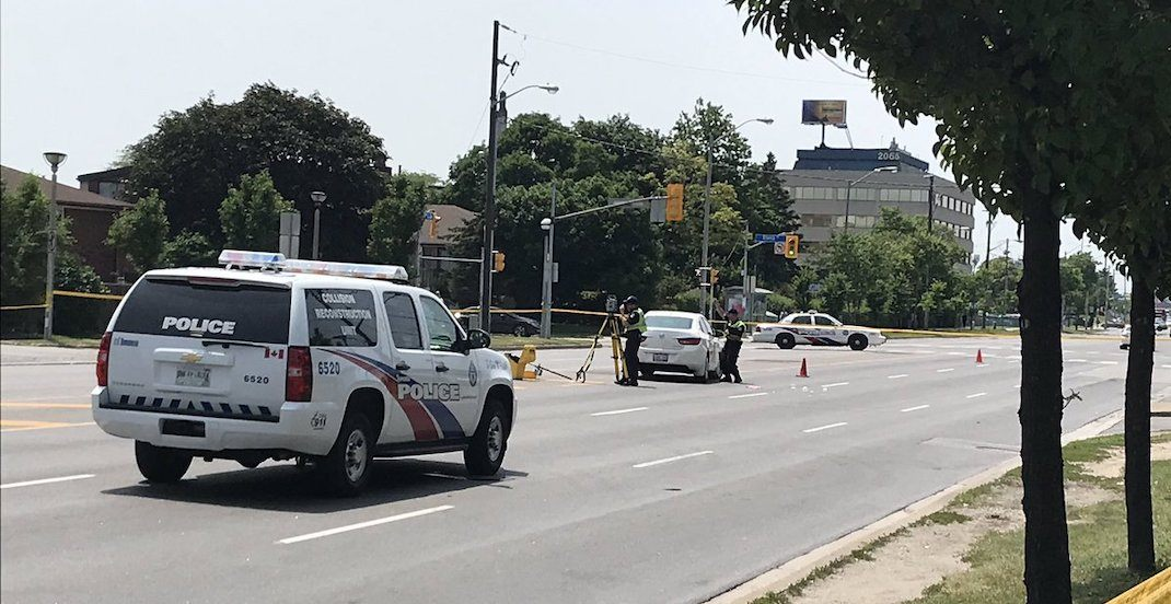 Female pedestrian dead after being struck by car at Jane and Finch