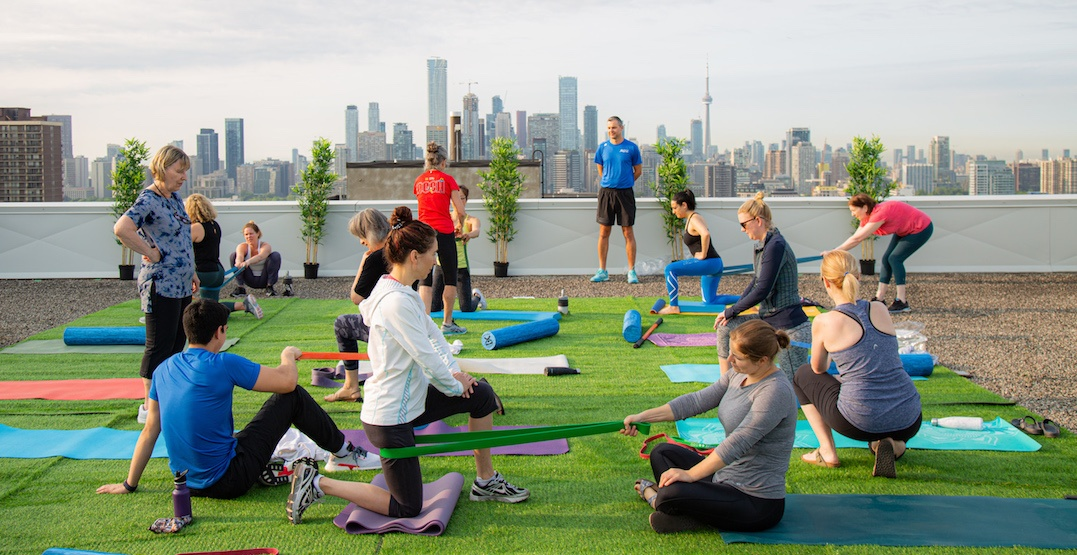 You can now take FREE fitness classes on this rooftop in Toronto