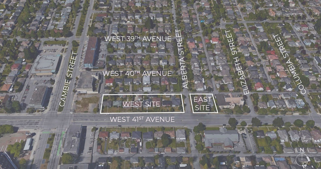 357-475 West 41st Avenue (West Site) and 325-343 West 41st Avenue (East Site)