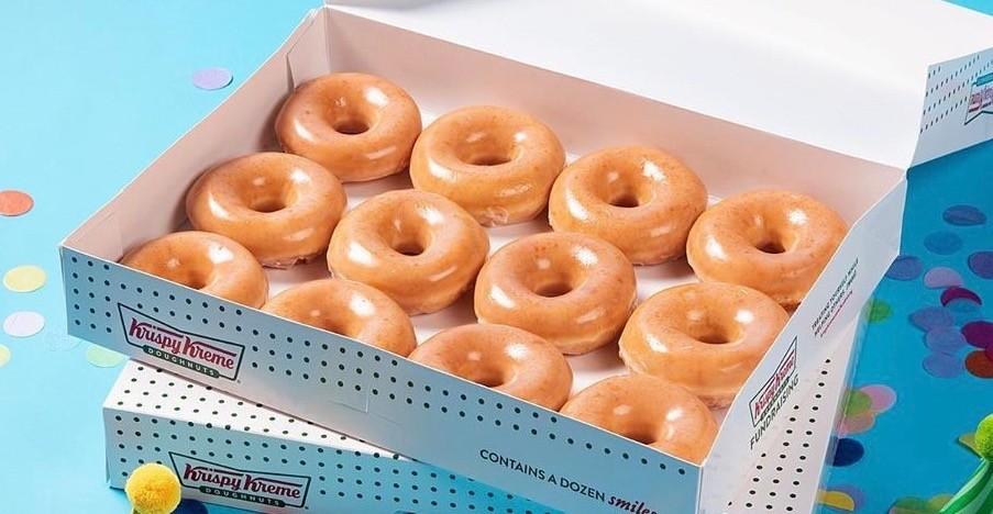 Krispy Kreme is offering a dozen doughnuts for $1 July 19