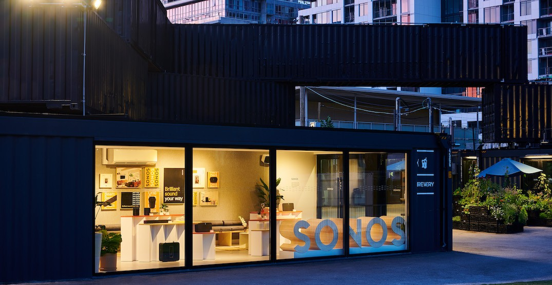 Sonos opens its first-ever Canadian retail pop-up at Stackt Market