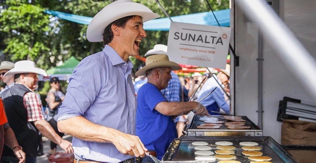 Justin Trudeau Spotted At A Stampede Breakfast In Calgary