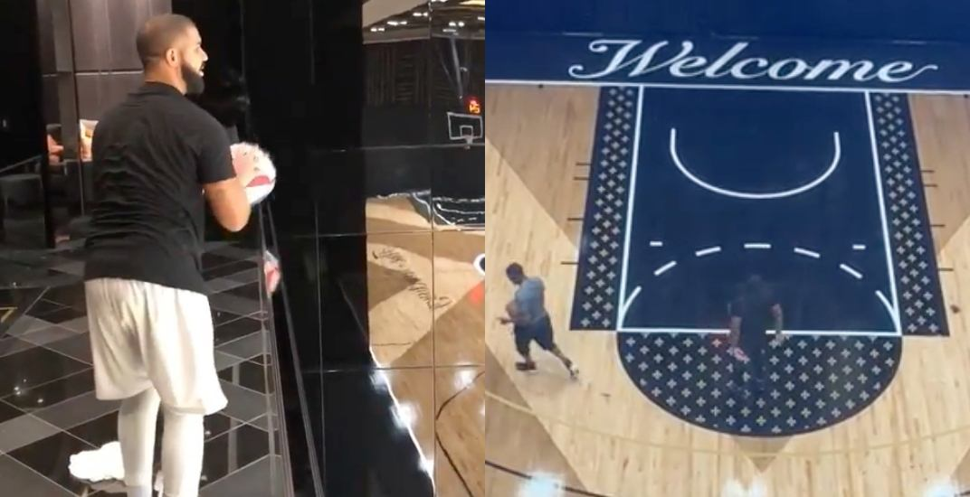 Drake Shows Off The New Basketball Court In His Mansion Videos Offside