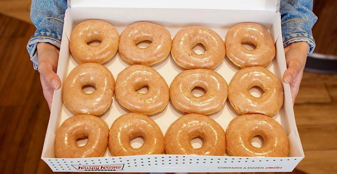 Krispy Kreme is offering a dozen doughnuts for $1 this week