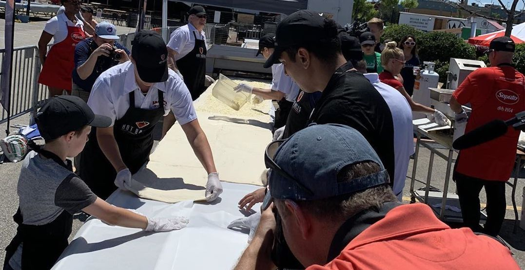 Calzone Guinness World Record broken in GTA this weekend