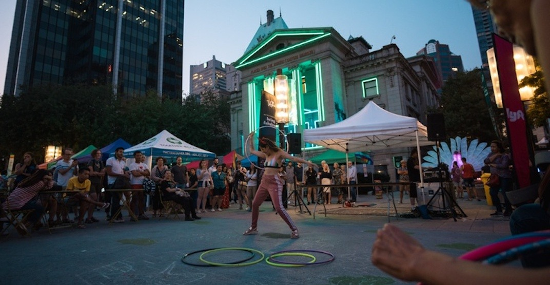 You can't miss this massive seven-hour Pride party outside the Vancouver Art Gallery