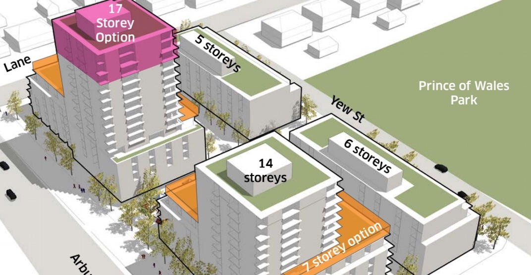 500 rental homes proposed for Arbutus Street near 33rd Avenue in Vancouver