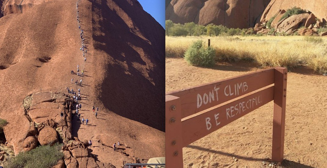 Tourists rush to climb ancient Australian rock formation before it closes to the public