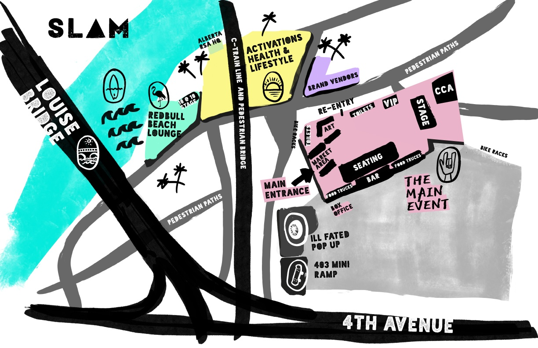 Slam Festival Map