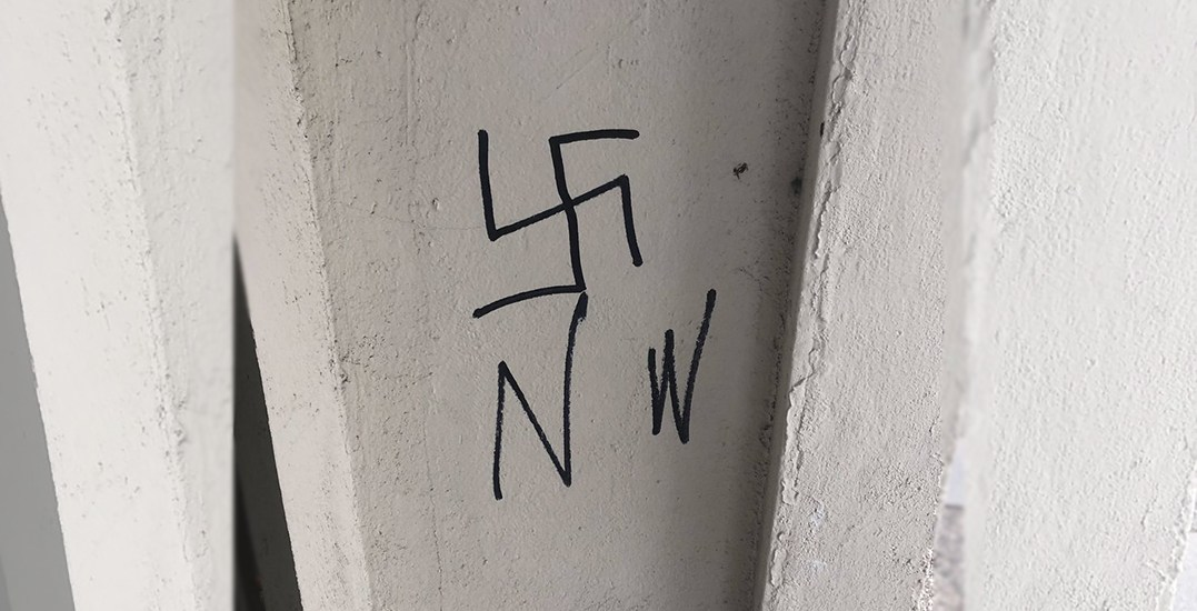 Police investigating racist graffiti found outside of downtown Victoria home