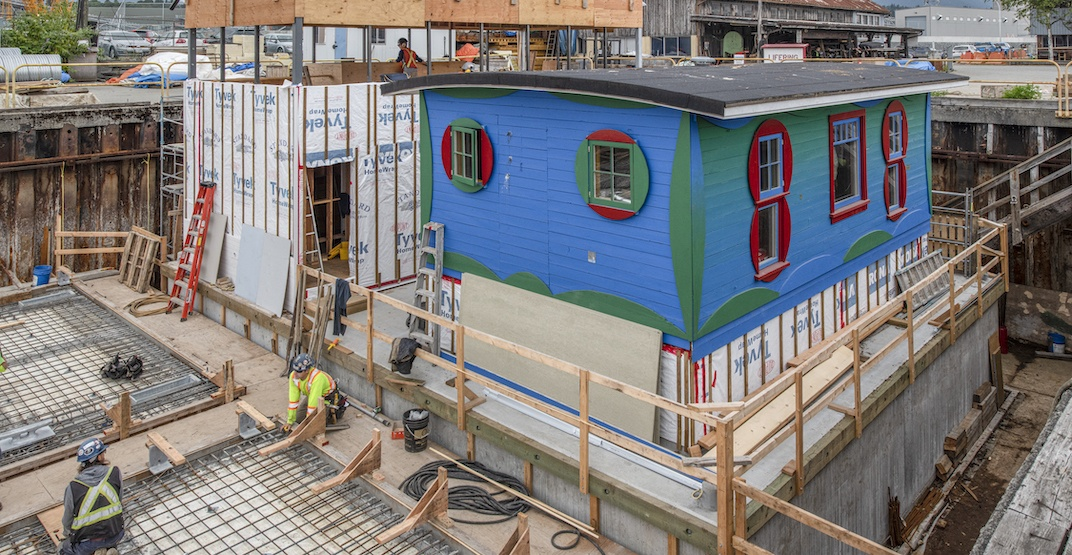 Former cabin turned into floating artist residency to be moored in False Creek