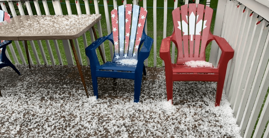 Calgary was just hit by some serious hail on Thursday (VIDEOS)