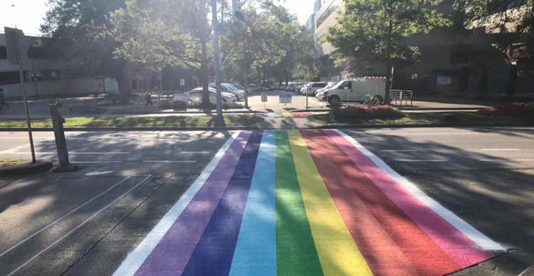 New permanent LGBTQ rainbow crosswalk painted in Richmond