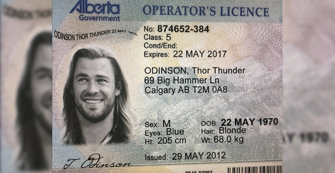 'Thor Odinson' attempts to purchase weed from online dispensary with expired ID
