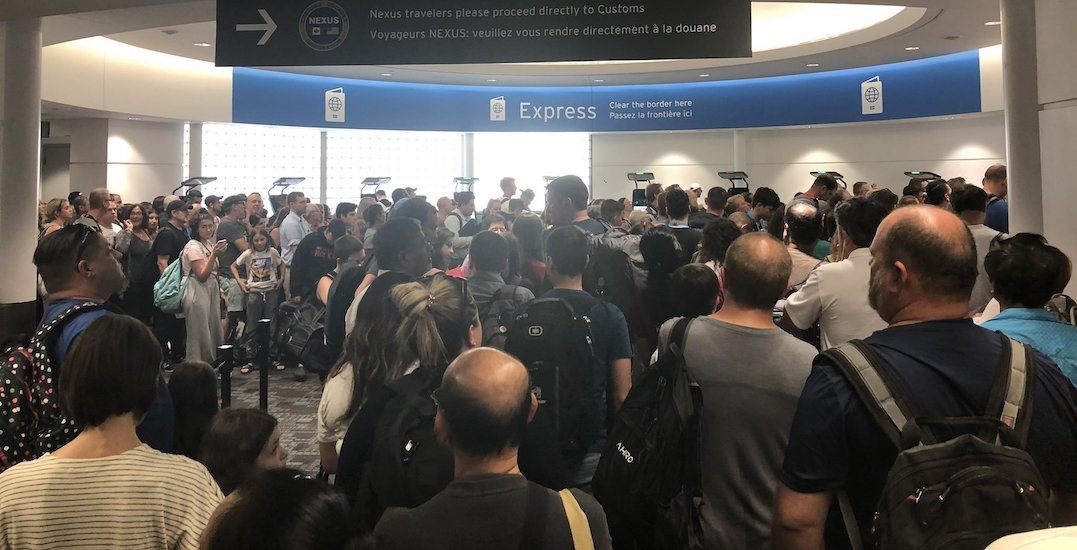 Customs kiosk outage leaves hundreds of Pearson passengers stranded and angry (PHOTOS)