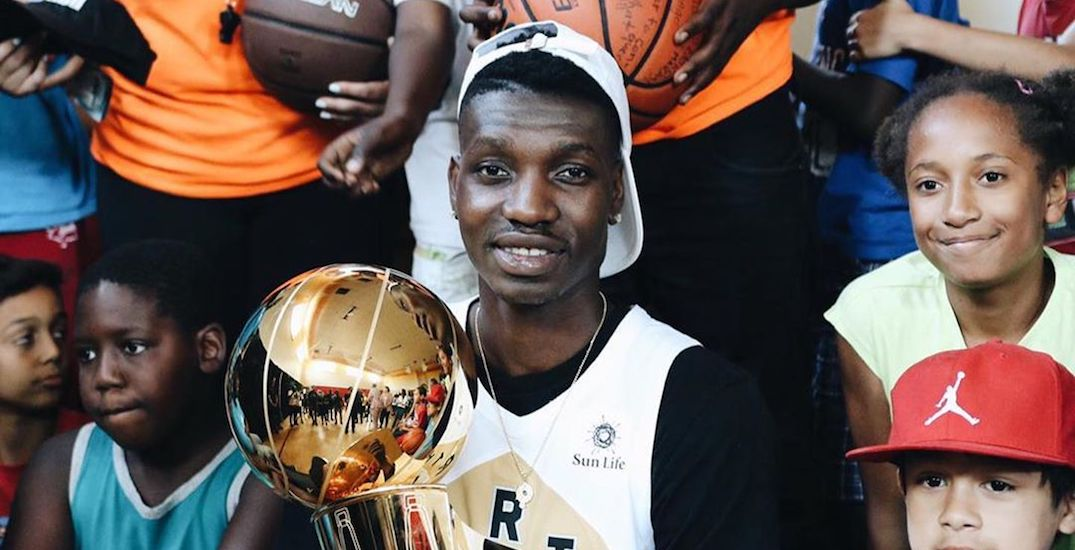 Basketball champ Chris Boucher brings NBA Championship trophy home to Montreal (PHOTOS)