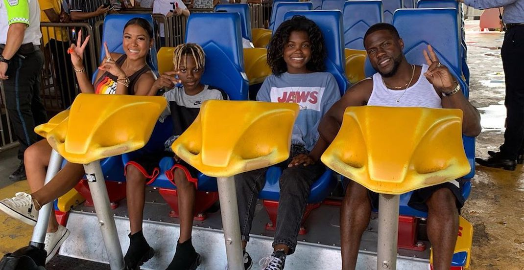 Kevin Hart spotted at La Ronde on Sunday (PHOTOS)