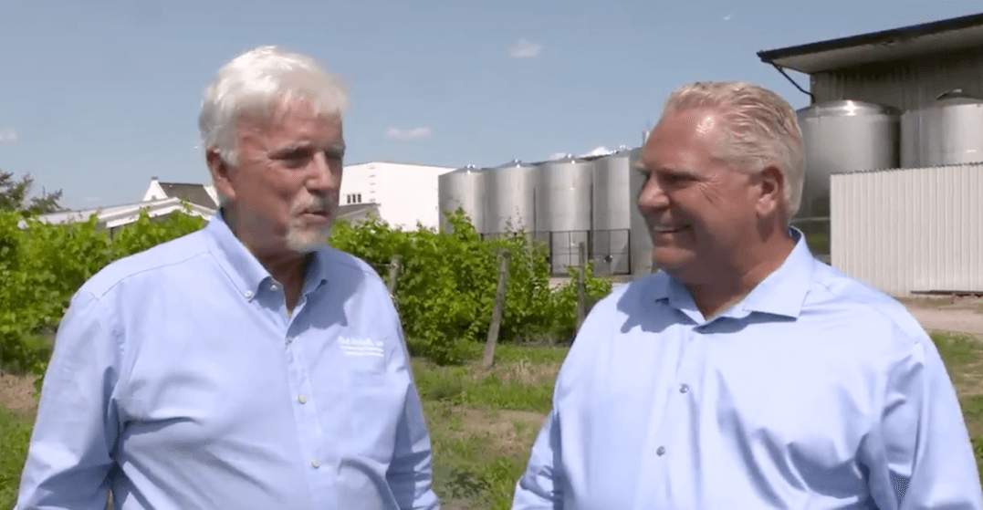 Ontarians respond to Ford promoting winery that donated to Conservatives