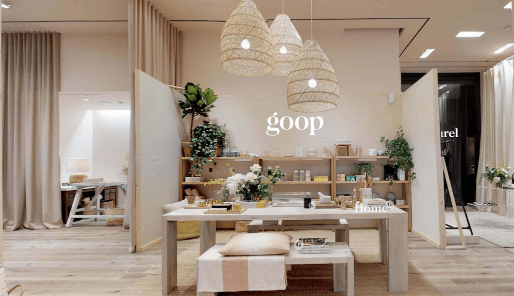 Gwyneth Paltrow's Canadian goop pop-up now offers online shopping