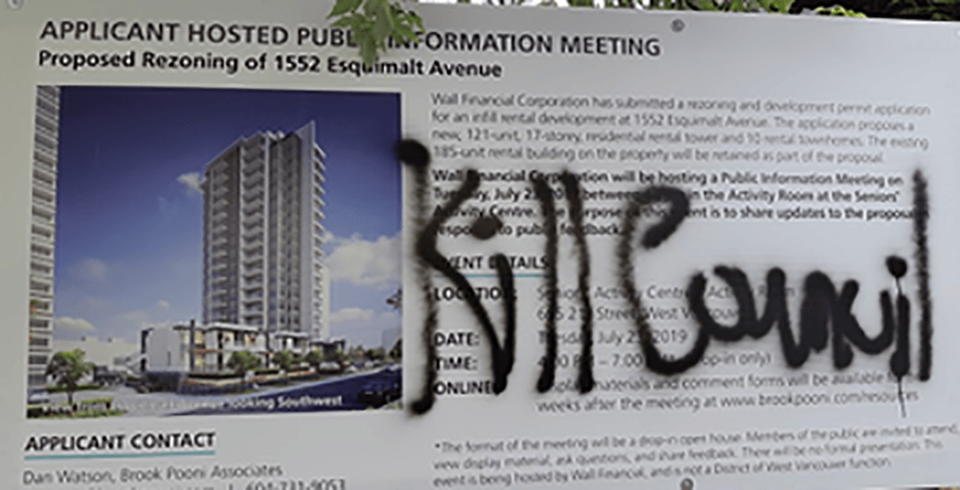 Police investigate graffiti involving death threats to West Vancouver mayor and council