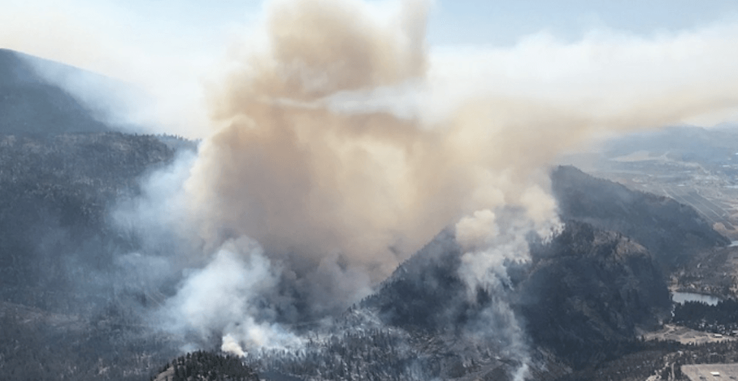 Evacuation alert issued as Okanagan wildfire grows in size