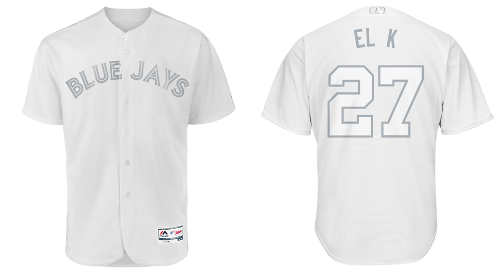 wholesale dealer ab4a3 60653 Blue Jays unveil fun player nicknames on new all-white ...