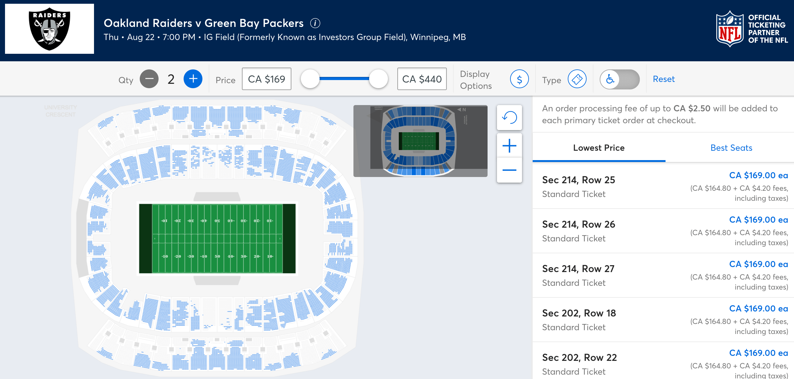 winnipeg nfl tickets