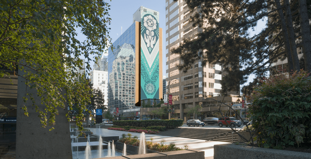 Shepard Fairey unveils 20-storey 'Earth Justice' mural in Vancouver (PHOTOS)