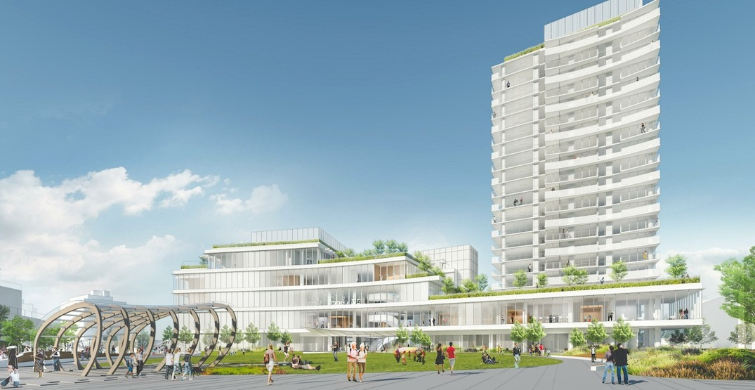 New renderings of Oakridge Centre's community centre with social housing