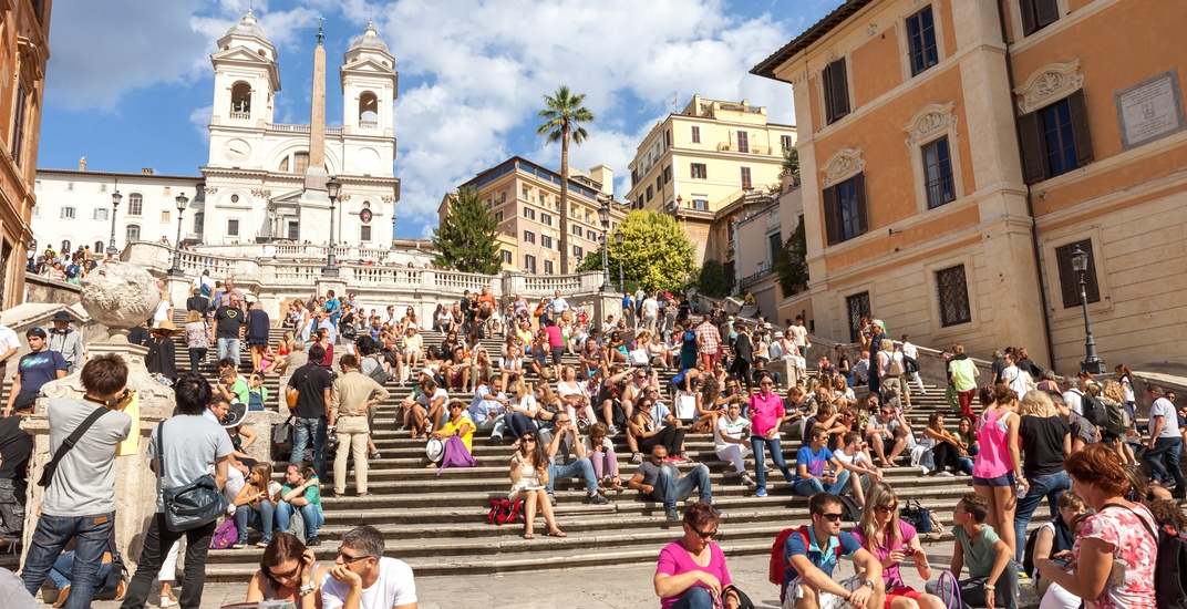 You can now be fined over $500 for sitting on Rome's famous Spanish Steps