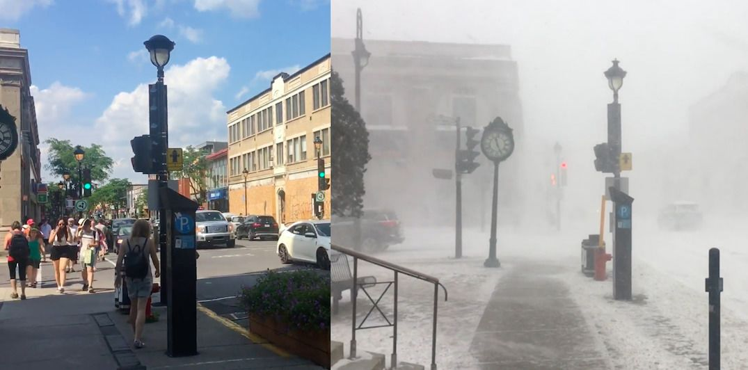 Check out what the same Montreal street looks like 6 months apart (VIDEO)
