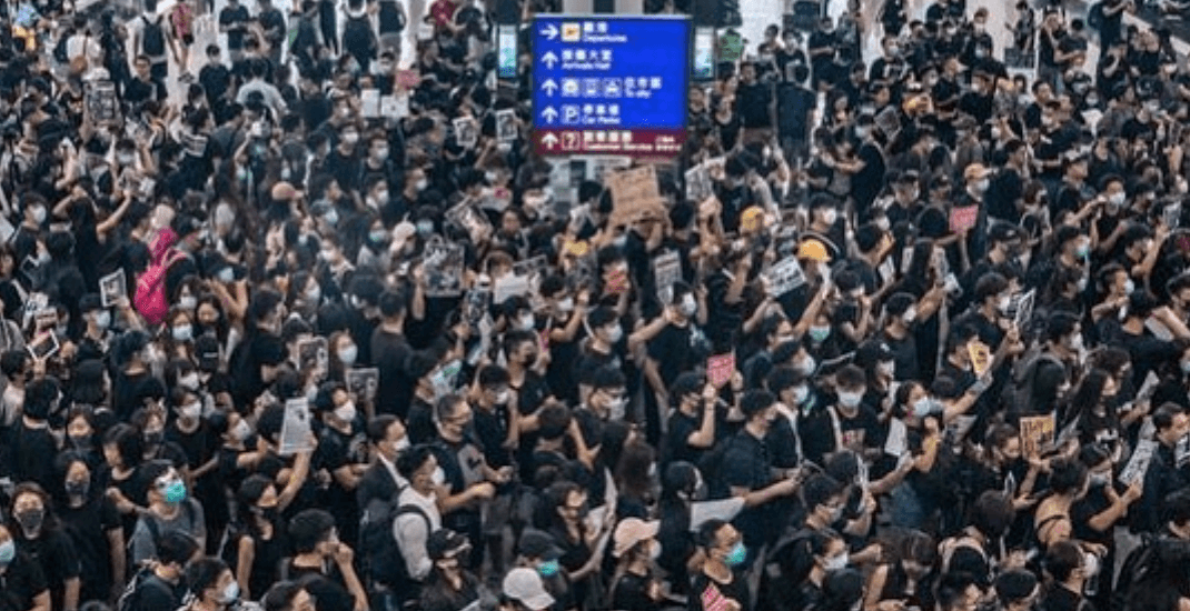 All flights cancelled at Hong Kong airport due to pro-democracy protests