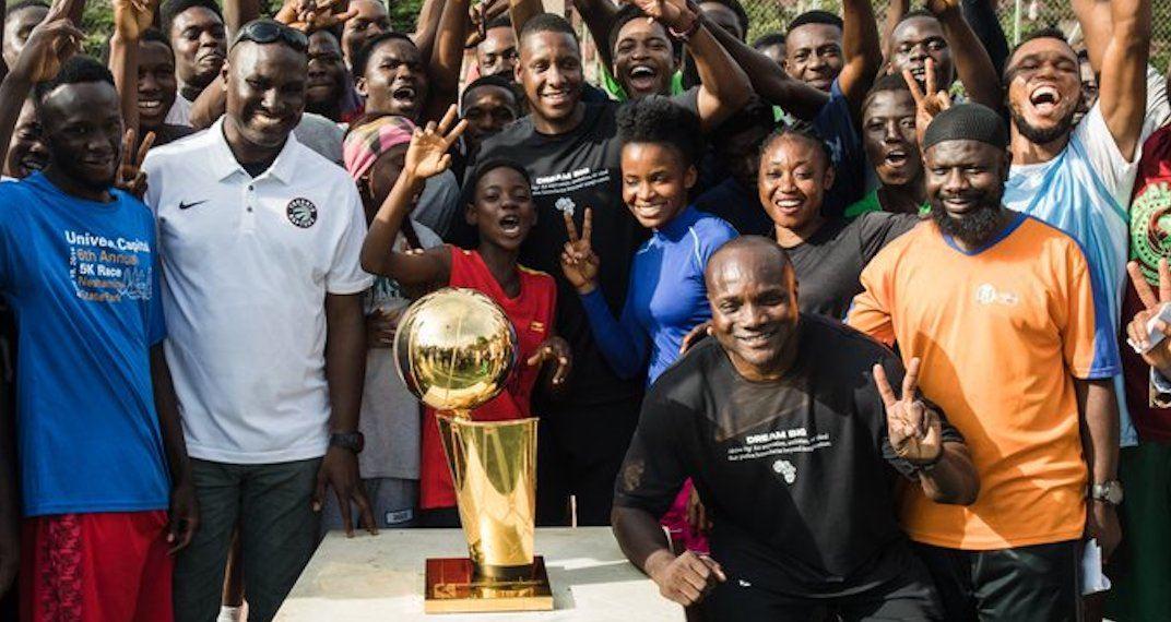 Raptors president Masai Ujiri brings NBA championship trophy to Africa (PHOTOS)